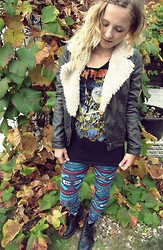 Anka L. - Docs, Zara Leather Jacket, H&M Leggins, Iron Maiden - I wanna be a hippie but i forgot how to love