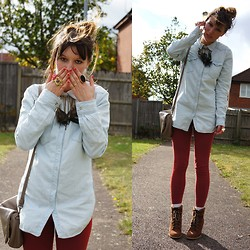 Agata P - H&M Denim Shirt, Primark Leggings - Cry Me A River