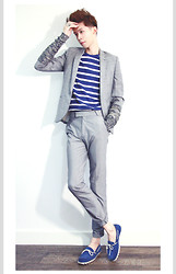 Elvin Feng - Topman Blazer, Cos T Shirt, Asos Trousers, F Troupe Shoes, Cos Gloves - SAILOR IN GRAYS