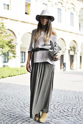 Annachiara S. - Balenciaga Bag, Asos Boots, Topshop Hat - My first time at...MFW