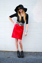 K Isabella - Vintage Skirt, H&M Hat, Jeffrey Campbell Shoes - Block It Out