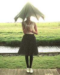 Jeanne H. - H&M Shirt, H&M Polkadot Skirt, Atmosphere Shoes - You can stand under my umbrella