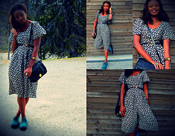 Sarah B. - Trabant Vintage Jumpsuit, H&M Bags, H&M Shoes - Flower prints!