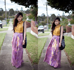 Jessica Tran - Talulah Maxi Skirt, Attik Sleeveless Yellow Blouse, Market Hq Tote - Acts of Kindness