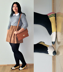 Andi D - Topshop Top, Vintage Skirt, Gifted Bag, Jeffrey Campbell Shoes - Pencil shoes