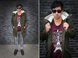 Mexico B. - H&M Parka, Acne Studios Jeans, Acne Studios Jumper, Tuk Creepers, Ray Ban Sunglasses - Hello fall!
