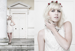 Lyvia Aylward-Davies - Asos Ballerina Dress, Topshop Flower Headband - The perseverance of rain.