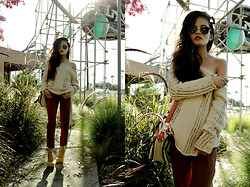 Olivia Lopez - Vintage Jumper, American Apparel Trousers, Asos Heels, Shopthecaravan Sunglasses - Fall, Finally