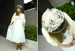 Etsuna Otsuka - Vintage Hat, Handmade Dress, Vintage Shoes - Pregnancy Diary -- baby:28 week 04 day