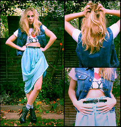 Malory Torr - Diy Maxi Skirt, New York I <3 Ny, Levi's® Denim Jacket, Jeffrey Campbell Campbells - ▼lets get down with the trumpets▲