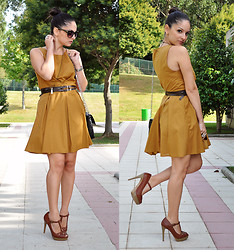 Alba . - Love Dress, Stradivarius Heels, Zara Sunglasses - Mustard Dress...