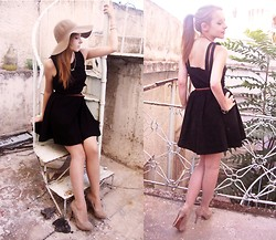 Sofie H - Clubcouture Dress, H&M Hat, Zara Heels - BLACK DRESS