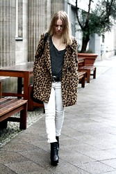 Josephine M. - Falia Coat, Zara Shirt, Zara Pants, Vintage Belt, Sam Edelman Shoes - Leopard