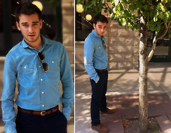"TotesFerosh ! - H&M Chambray Button Down, Coach Braided Belt, H&M Blue Trousers - Bringing ""Brokeback"" Back"