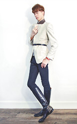 Elvin Feng - Vintage Jacket, Cos Belt, Asos Trousers, Gucci Leather Boots - MODERN RIDER