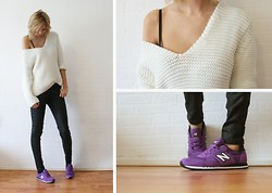 Sietske L - Zara Knitted Jumper, Cos Coated Jeans, New Balance Sneakers - New balance.