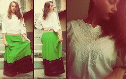 Nanah Greco - Indian Skirt, Indian White Shirt - Across The Universe