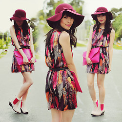 Connie Cao - Forever 21 Hat, Love Dress, Romwe Clutch, Market Hq/Soles Shoes, Vintage Belt - LOVIE DOVIE