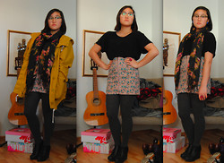 Maria B - Flowery Scarf, Jeffrey Campbell 99 Tie - The Forgotten Days