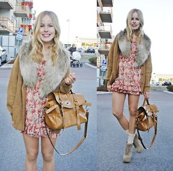 Frida Johnson - Dress, H&M Shirt + Fake Fur, Bag - MOVES LIKE JAGGER