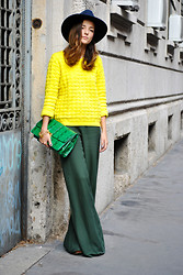 Eleonora Carisi - Cos Sweatshirt, Zara 60's Pants, Asos Python Clutch, Zara Hat Wool - In A Manner Of Speaking