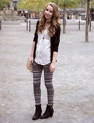 Shannon K. - Zara Blouse, Zara Cardigan, Forever 21 Leggins, Ankle Boots, Zara Bag - And I told you to be patient...