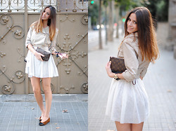 Zina CH - Louis Vuitton Clutch, The Wardrobe Dress, Bimba & Lola Flats - Tutu-Trench