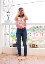 Nessa Espineli - Polka Dot Top, Forever 21 High Rise Pants - Just Being Silly