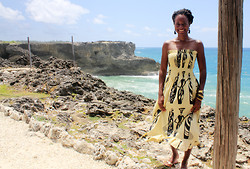 Tanya Weekes - Gambia Dress, Primark Sandals, Casio Watch - From Gambia to Barbados