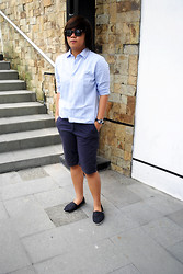Alex Heussaff - Zara Shirt, Zara Shorts - Summertime Blues