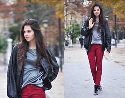 Doina Ciobanu - Zara Red Leggings - Feel the REDbeat in your mind