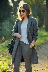 Christine R. - Ray Ban Sunglasses, Zara Coat, Michael Kors Watch - Sporty chic