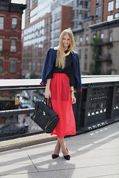 Jessica Stein - 3.1 Phillip Lim Pashli Satchel - NYFW Day One