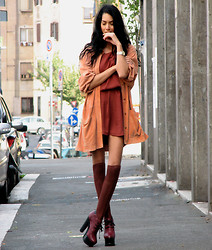 Konstantina Tzagaraki - Vintage Leather Jacket, Topshop Lace  Up Booties - Have you ever been in Bordeaux?!