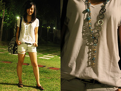 Alix Reyes - Calvin Klein Basic V Neck, Roxy Diy Ripped Shorts, Izzo Shop Camera Bag, Charles And Keith Leopard Print Loafers, Mom's Jewelry Rack Random Necklace / Belt, Vintage Belt - Monopoly Deal Day