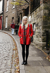 Kate G - Vintage Coat, The Edinburgh Woollen Mill Scarf, Bertie Shoes, Made It Bag - Feeling festive and British