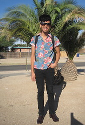 Jo Zepeda - Goodwill Cap, Goodwill Shirt, Urban Outfitters Pants, Goodwill Shoes - Summer in October