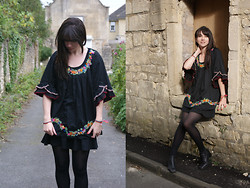 Becky May - Derhy Blouse, Vintage Boots - Gyspy blouse
