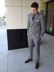 Taylor S - Holt Renfrew Made To Measure Suit, Canali Pocket Square, Charvet Tie, Holt Renfrew Made To Measure Shirt, Ermengildo Zenga Shoes - Double Breasted Style