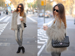 Zina CH - Zara Feaux Fur, Chanel Bag, Topshop Boots - Furry Mood