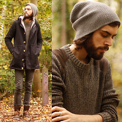 Tony Stone - American Apparel Winter Jacket, H&M Green Jumper, Topman Brown Shoes, Cheap Monday Grey Skinnies - PARADOXAL SYSTEME