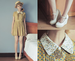 Tricia Gosingtian - Dress, Shoes, Forever 21 Necklace, Forever 21 Boater Hat - 102911