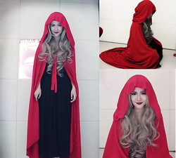 Erika Suen - Handmade Cape, H&M Maxi Skirt - Little Red