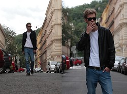 Maxmilian Hajkr - Topman Leather Jacket, Cheap Monday Cheapmonday, H&M Coat, Ray Ban, Gino Rossi - James Dean cult