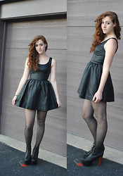 Darina M - H&M Black Leather Dress, Jeffrey Campbell Lita Boots - A Hospital for Souls