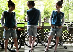 Abby Yoyo - Hubbys Sweater Vest, Ae Long Shorts - To be my hubby