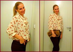 Vanda Santos - Asos Blouse, Asos Pants, Clutch - My horses are ready to ride