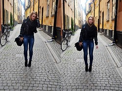 Alicia S - Zara Jeans, H&M Jacket, Shoes, H&M Scarves - IN THE CITY, STOCKHOLM