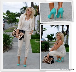 Anna V - Wittner Heels, Ebay Clutch, Zara Blazer, Zara Chinos, Chicabooti Top, Guess? Necklace - Another day at the office