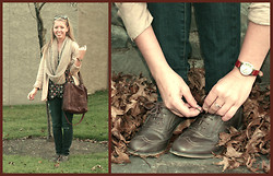 Leslie Blair Sullivan - Anthropologie Infinity Scarf, American Eagle Denim, Lucky Brand Purse, Aldo Oxford Shoes, Watch - Sober as an Oxford